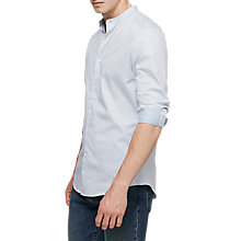 Buy Reiss Dacosta Slim Grandad Collar Shirt, Soft Blue Online at johnlewis.com