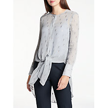 Buy Modern Rarity Clipped Jacquard Blouse, Sky Blue Online at johnlewis.com