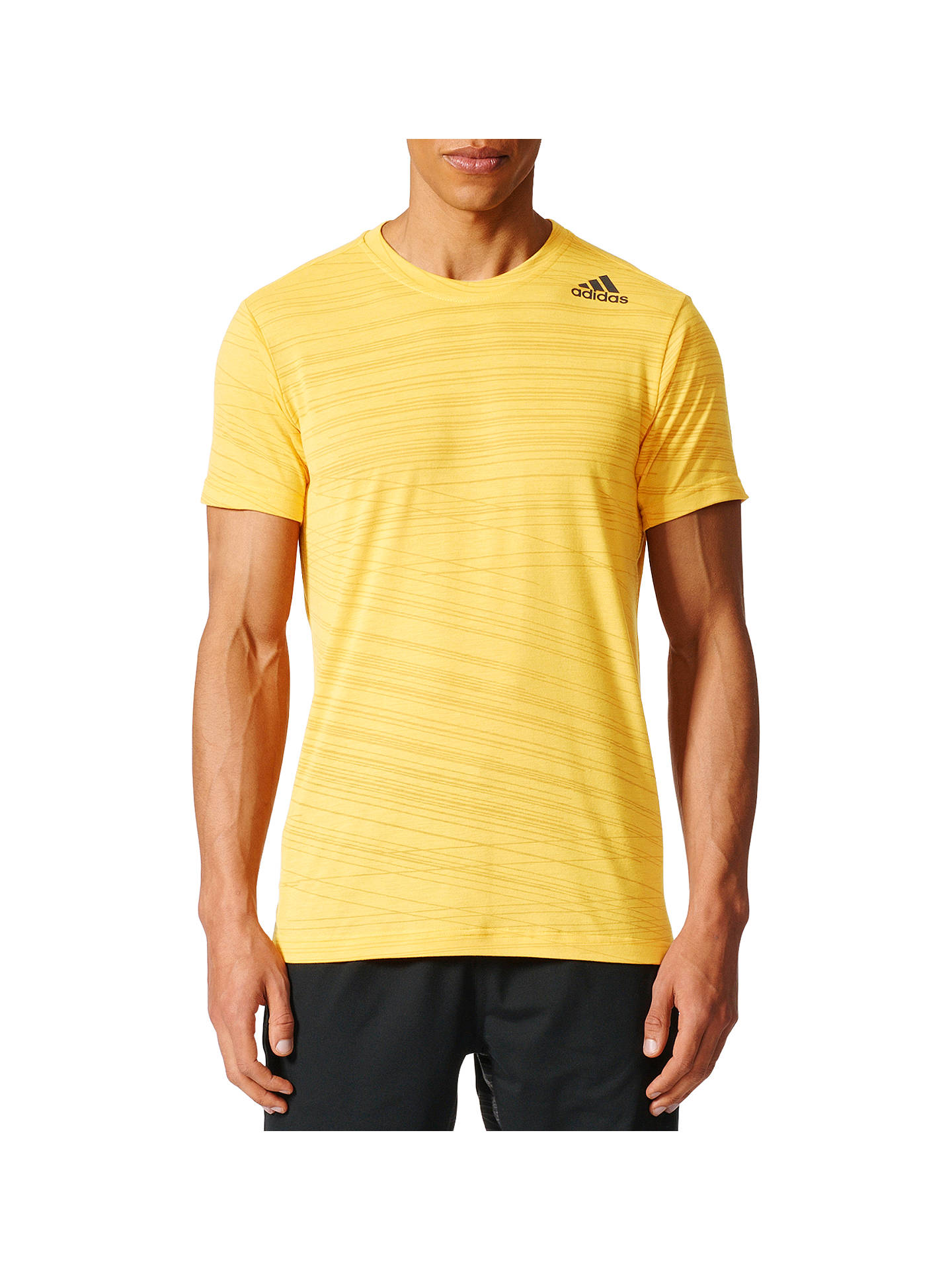 154cc6a140b Buy adidas Freelift Climacool Aeroknit T-Shirt, Yellow, L Online at  johnlewis.