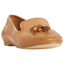 Buy Dune Gentle Woven Loafers, Tan Online at johnlewis.com