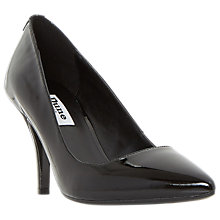 Buy Dune Aeryn Stiletto Heeled Court Shoes, Black Patent Online at johnlewis.com