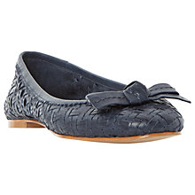 Buy Dune Hillary Woven Ballet Pumps Online at johnlewis.com