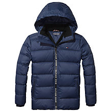 Buy Tommy Hilfiger Boys' Quilted Jacket, Navy Online at johnlewis.com