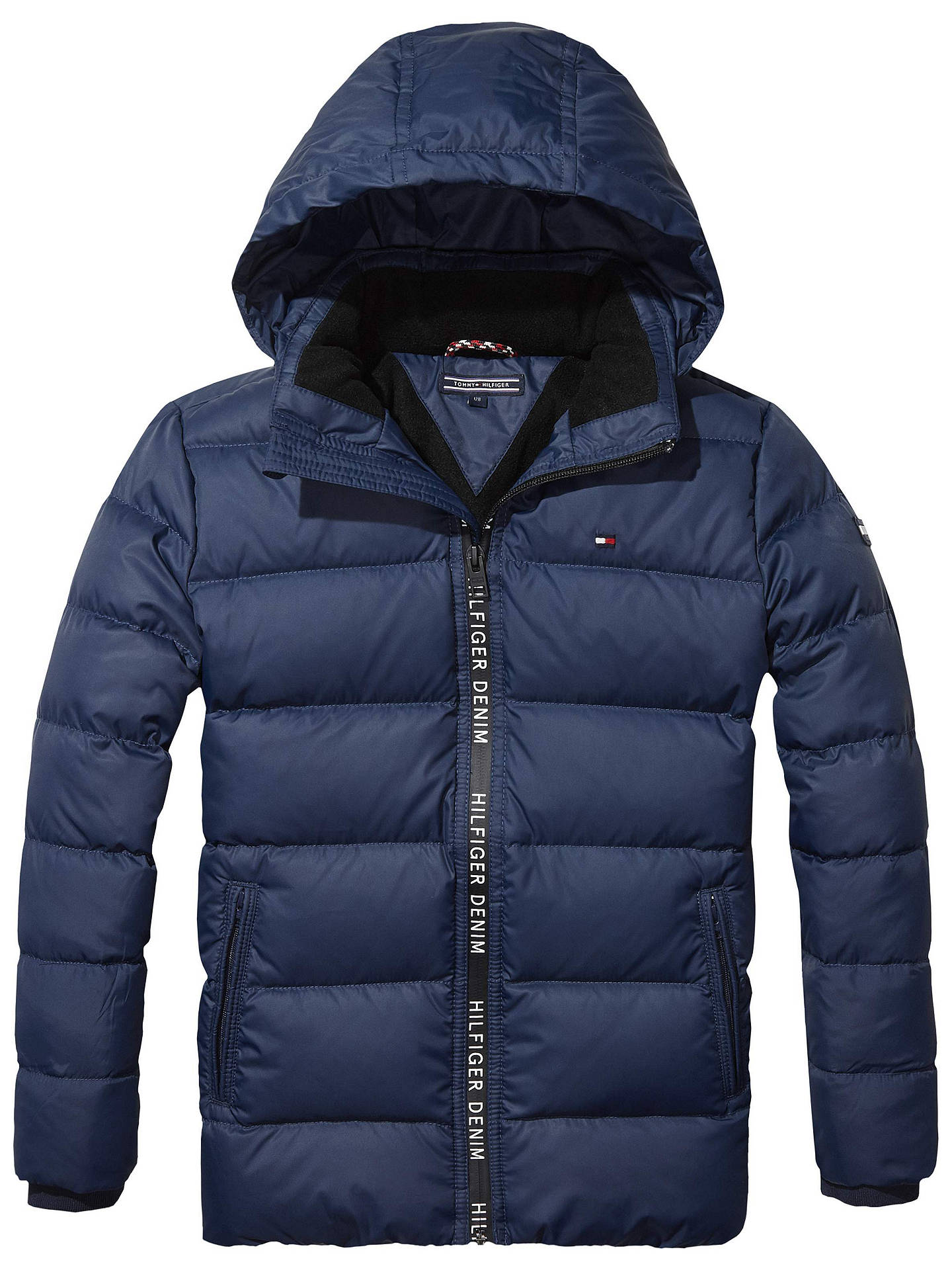 Tommy Hilfiger Boys Quilted Jacket Navy At John Lewis