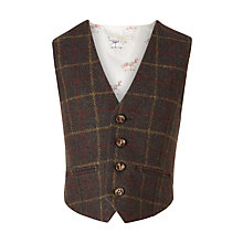 Buy John Lewis Heirloom Collection Boys' Tweed Waistcoat, Green Online at johnlewis.com
