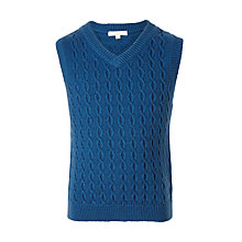 Buy John Lewis Boys' Heirloom Cable Knit Tank Top Online at johnlewis.com