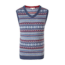 Buy John Lewis Boys' Heirloom Fair Isle Knit Tank Top, Multi Online at johnlewis.com