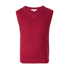 Buy John Lewis Boys' Heirloom Collection Cable Knit Tank Top Online at johnlewis.com