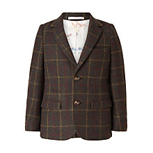 Buy John Lewis Heirloom Collection Boys' Check Jacket, Green Online at johnlewis.com