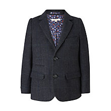 Buy John Lewis Heirloom Collection Boys' Wool Herringbone Blazer Jacket, Blue Online at johnlewis.com