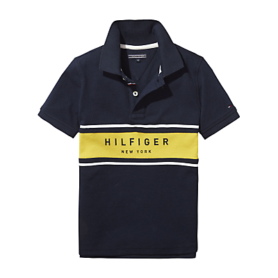 Tommy Hilfiger Boys' Logo Polo Shirt, Navy