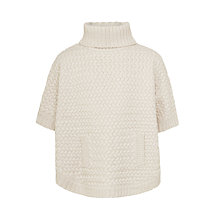 Buy John Lewis Girls' Zig Zag Knit Poncho, Oatmeal Online at johnlewis.com
