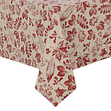Buy John Lewis Ravensworth Berries Tablecloth, Red Online at johnlewis.com