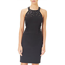 Buy Adrianna Papell Crepe Ruched Sheath Dress, Black Online at johnlewis.com