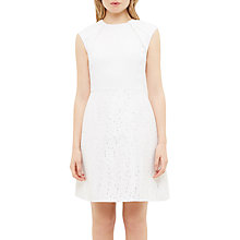 Buy Ted Baker Chiliad Embellished Suit Dress, Ecru Online at johnlewis.com