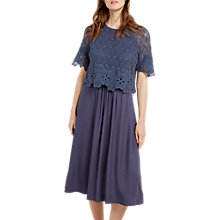 Buy White Stuff Wild Flower Lace Dress, Topas Blue Online at johnlewis.com