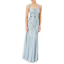 Buy Adrianna Papell Petite Sleeveless Beaded Gown, Blue Heather Online at johnlewis.com