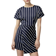 Buy Warehouse Stripe Dress, Black/White Online at johnlewis.com