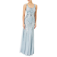 Buy Adrianna Papell Sleeveless Beaded Gown, Blue Heather Online at johnlewis.com