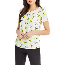Buy Oasis Tropical Parrot Print T-Shirt, Natural/Multi Online at johnlewis.com