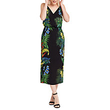 Buy Oasis Tropical Placement Midi Dress, Multi / Black Online at johnlewis.com