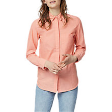 Buy Warehouse Linen-Blend Casual Shirt, Peach Online at johnlewis.com