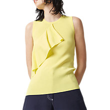 Buy Warehouse Sleeveless Ruffle Front Top Online at johnlewis.com