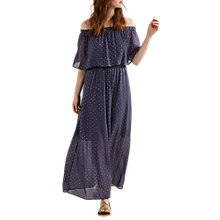 Buy White Stuff Sparkle Spot Dress, Navy Online at johnlewis.com