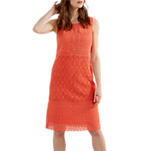Buy White Stuff Iris Lace Panel Dress, Coral Pink Online at johnlewis.com