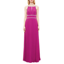 Buy Ted Baker Vickex Embellished Trim Pleated Maxi Dress, Fuchsia Online at johnlewis.com