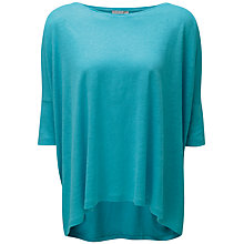 Buy Pure Collection Luxury Linen Poncho Top, Aqua Online at johnlewis.com