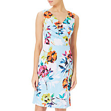 Buy Adrianna Papell Posy Printed Jacquard Sheath Dress, Teal/Multi Online at johnlewis.com