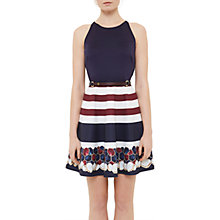 Buy Ted Baker Annalie Rowing Stripe A-Line Skater Dress, Navy Online at johnlewis.com