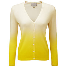 Buy Pure Collection V Neck Cashmere Jumper, Lime Dip Dye Online at johnlewis.com