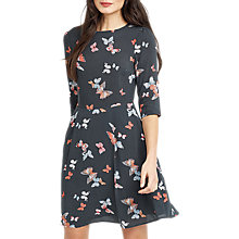 Buy Oasis Butterfly Skater Dress, Grey/Multi Online at johnlewis.com