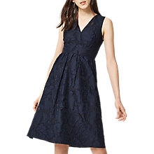 Buy Warehouse Burn Out Prom Dress, Navy Online at johnlewis.com