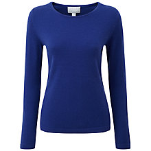 Buy Pure Collection Cashmere Crew Neck Jumper, Sapphire Online at johnlewis.com