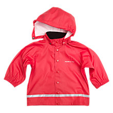 Buy Polarn O. Pyret Baby Raincoat, Red Online at johnlewis.com