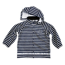 Buy Polarn O. Pyret Children's Striped Raincoat, Blue Online at johnlewis.com