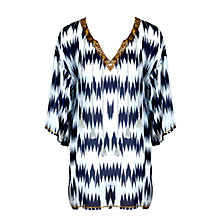 Buy Watercult Nomadic Beach Kaftan, Blue/Multi Online at johnlewis.com