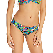 Buy Freya Island Girl Bikini Briefs, Black/Multi Online at johnlewis.com