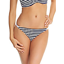 Buy Freya Drift Away Stripe Rio Bikini Briefs, Navy/White Online at johnlewis.com