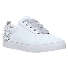 Buy KG by Kurt Geiger Loving Lace Up Trainers, White Online at johnlewis.com