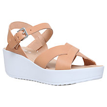 Buy Miss KG Parker Wedge Heeled Sandals, Tan Online at johnlewis.com