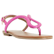Buy Dune Lexy Toe Post Sandals, Purple Online at johnlewis.com