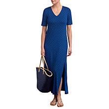Buy Pure Collection Jersey Maxi Dress, Blue Tile Print Online at johnlewis.com