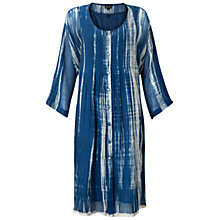 Buy East Annez Shibori Dress, Blue Online at johnlewis.com