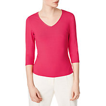 Buy Precis Petite Jeff Banks Jersey Top, Pink Online at johnlewis.com