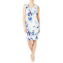Buy Jacques Vert Petite Floral Dress, Blue/Multi Online at johnlewis.com