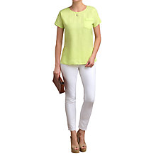 Buy Pure Collection Laundered Linen Pocket Top Online at johnlewis.com